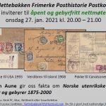 Norske udenrigstakster – invitation til videoforedrag